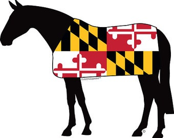 Maryland Horse Magnet & Decal
