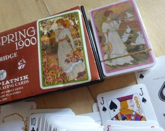 2 Sets Of  Vintage Playing Cards, Boxed, Austrian, Piatnik Circa 1980.s
