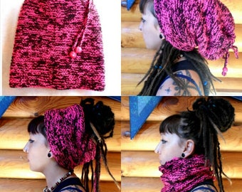 Hat for dreads 124 produced entirely by hand crochet!