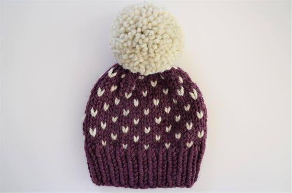 Fair Isle Hat Pattern Hat Knitting Pattern Little Hearts