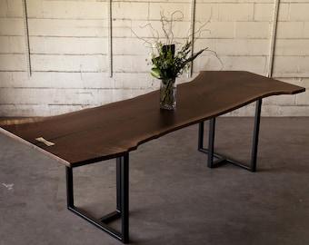 Modern Black Walnut Live Edge Dining / ConferenceTable