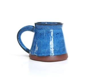 Handmade ceramic mug, pottery mug, ceramic mug, blue mug, brown mug, coffee mug, ceramic, handmade gift, housewarming gift, pottery, mug