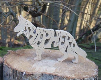 German shepherd, shepherd, German shepherd gift, shepherd memorial, shepherd ornament, dog breed gift, gift for dog lover, wooden shepherd