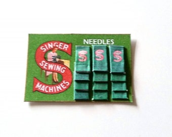 Singer Sewing Needles Sales Card ~ Dolls House Miniature ~ 12th Scale
