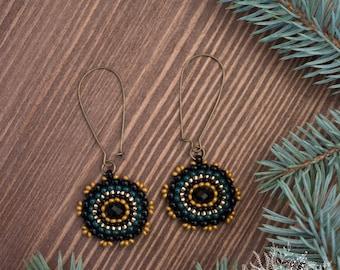 Beaded crystal handmade earrings woman