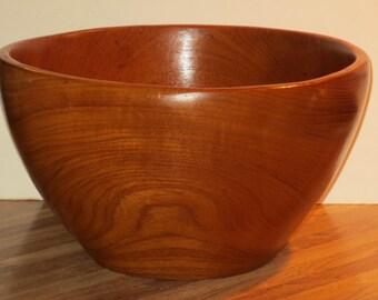 Mid-Century Danish Modern Large Teak Wood Serving Bowl