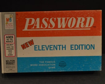 Vintage 1970 Milton Bradley Password 11th Edition