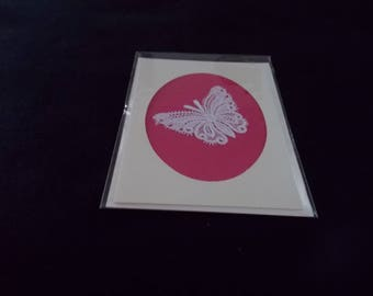 Card with Belgian Lace Butterfly