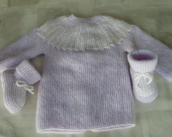 Baby newborn hand knitted baby set