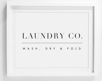 Laundry Wall Decor, Laundry Sign, Laundry Room Sign, Printable Laundry Art, Laundry Room Art, Wash Dry Fold, Laundry Printable, Laundry Co