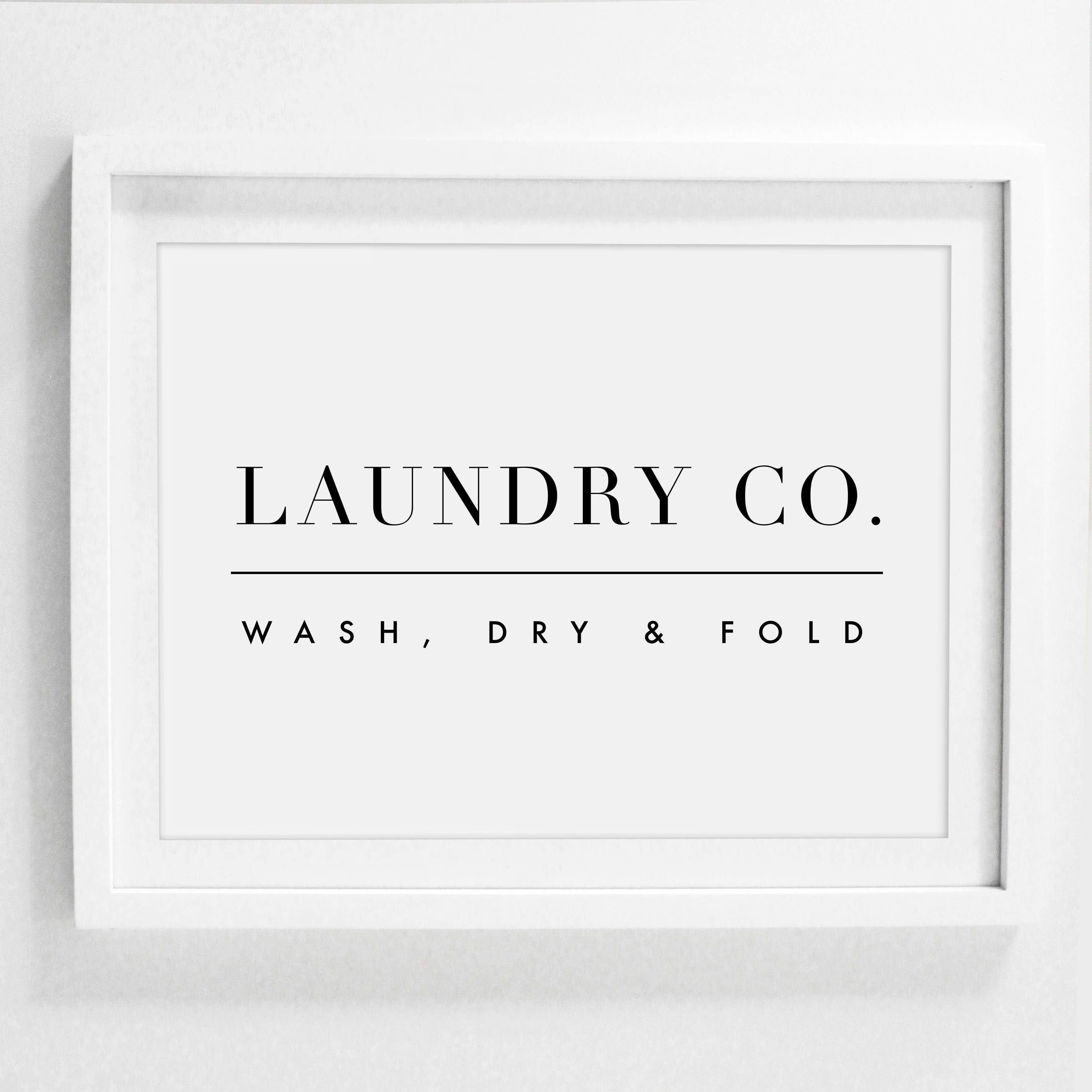 Laundry And Co Sign Laundry Wall Decor Laundry Sign Laundry Room Sign Printable