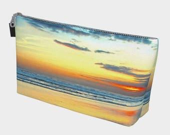 Yellow Beach Sunset Make Up Case