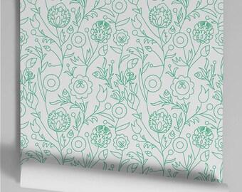 Murdoch green wallpaper