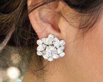 swarovski crystal Earrings Bridal Earrings Rhinestone Bridal Earrings Statement Bridal Earrings Wedding Rhinestone stud Earrings NATALEE