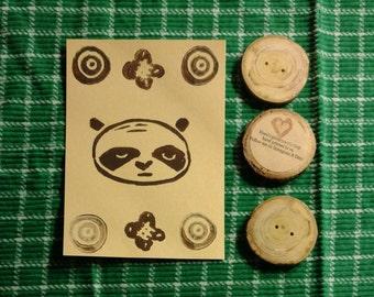 Unimpressed Panda Flat Note Card Set