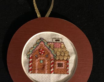 Gingerbread House  Cross Stitch Ornament