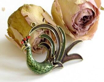 Pendant bronze Peacock pendant size: about 6 cm