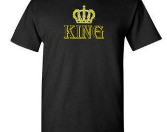 King T Shirts,  Crown Shirt, King and Queen, Royal