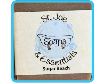 Sugar Beach Soap, Handmade Soap, All Natural Soap, Organic Saponified Olive Oil, Coconut Oil, Shea Butter, Fragrance Oil