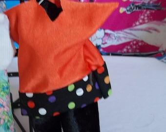 Ken Slacks set 214K Orange/black