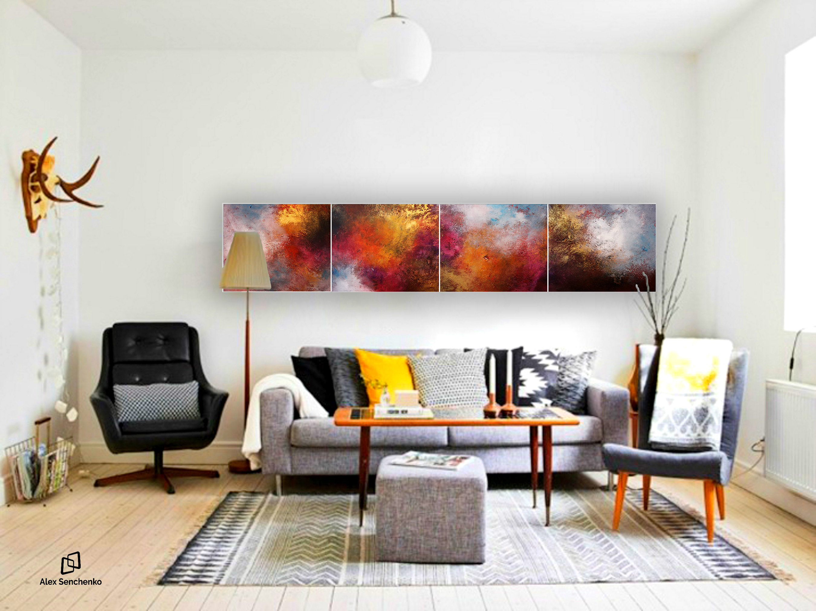 abstract large - abstract painting - large painting - original ...
