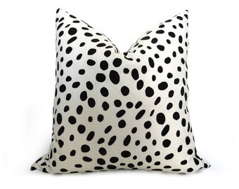 Dalmatian Pillow Cover - Black and White -More Sizes - Animal Pillow - Decorative Pillow - Designer Pillow - Spotted Pillow