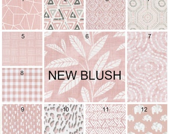 NEW 12 Blush Color Pillow Covers Blush Checked Geometric Animal Print Pillow Covers Choose Size