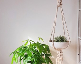 Large Macrame Plant Hanger, Hanging Planter, Plant Holder