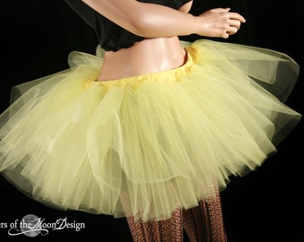 Sunshine Yellow extra poofy tutu skirt Adult -- You Choose Size-- Sisters of the Moon