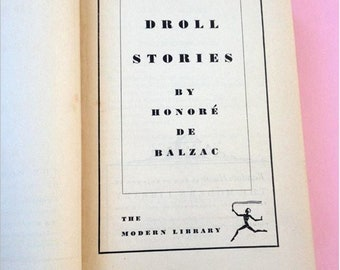 Droll Stories by Honore de Balzac - Modern Library Series Hardcover