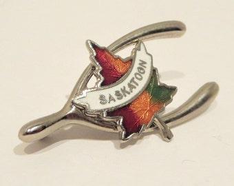 Saskatoon Maple Leaf Enamel Pin