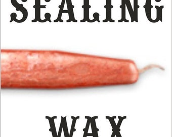 Pearl Tangerine sealing wax sticks with wicks - Scottish style breakable sealing wax - 10 pieces -ON SALE