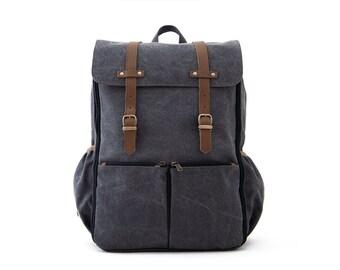 Diaper Bag Backpack, Backpack, Diaper Bag, School Backpack, Moms & Dads Diaper Bag, Canvas Backpack, Travel Backpack, GRAY CANVAS / CARRYALL