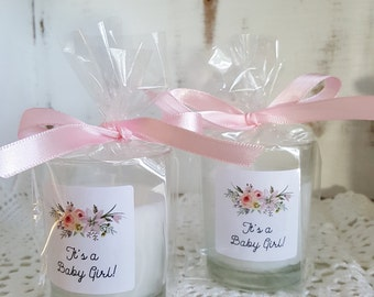 Baby Shower Favors, It's a Girl. Candle favors for a Baby Shower. Set of 30