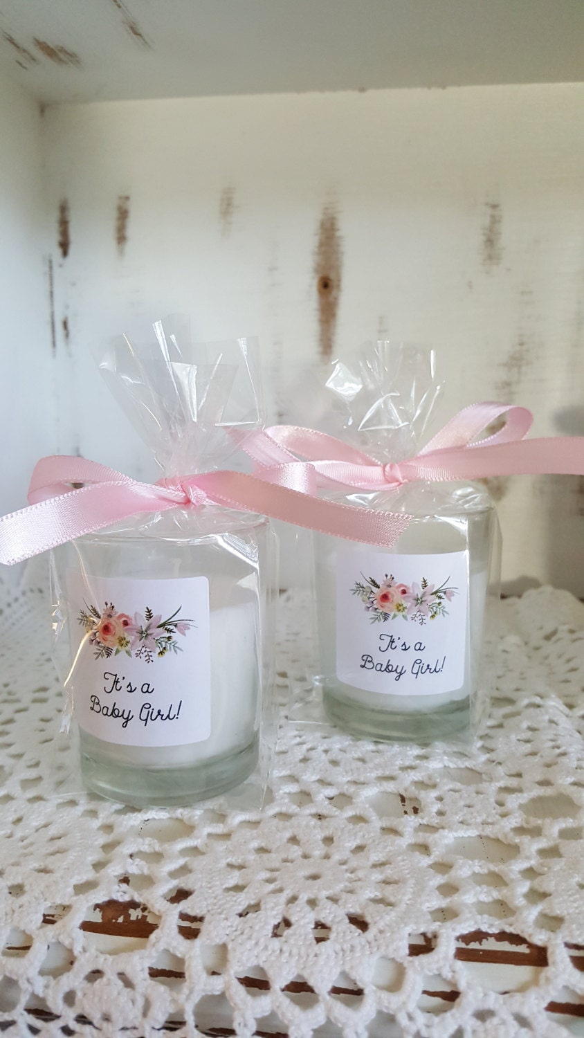 Baby Shower Favors It\'s a Girl. Candle favors for a Baby
