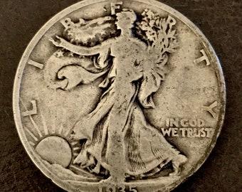 1935 Walking Liberty Silver Half Dollar 90% Silver.  #W015