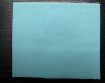 Coupon azurin blue plain cotton patchwork fabric. 142 x 16 cm