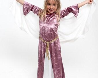 Medieval Princess, Medieval Robes, Medieval dress, Velvet Dress, Princess Dress, Renaissance Festival Costumes, Girls Medieval Costume