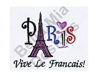Paris France - Machine Embroidery Design