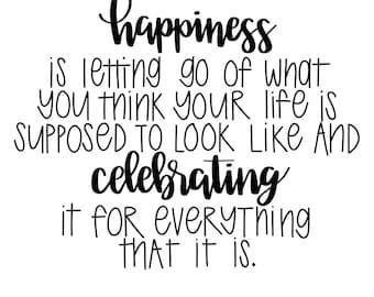 Happiness digital print- Happy- Wall Art- Gratefulness- Grateful Heart- Mantra- Inspirational Quote