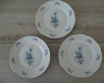 Set of 3 Thun Czechoslovakia Dessert Plates