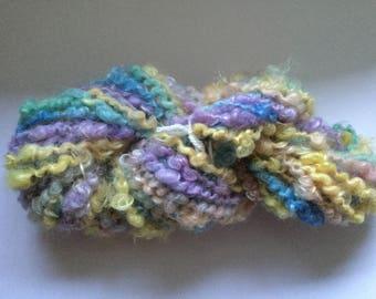 Hand spun Yarn. Spring Garden, knitting, Crochet,Weaving. doll, Crafts.