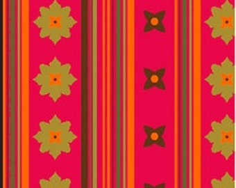 """Patty Young - """"Flowery Stripe"""" in fire - Michael Miller Fabrics"""