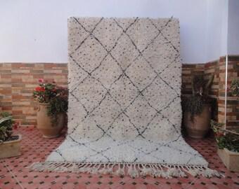 beni ourain rug 100% WOOL Authentic vintage carpet moroccan berber
