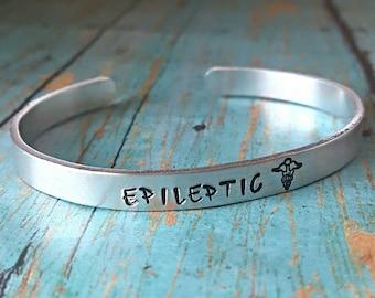 Epilepsy Bracelet - Epilepsy Jewelry - Epilepsy - Epileptic - Epilepsy Awareness - Medical Alert - Medical Bracelet - Awareness Jewlery