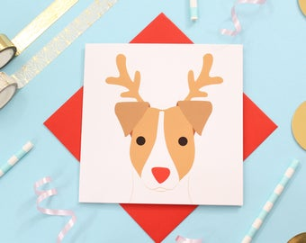 Christmas jack Russell card