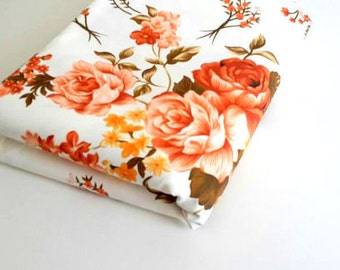 Floral duck fabric / sewing fabric / craftsupplies