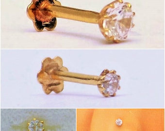 Stunning Nose Pin in 18carat Pure Yellow Gold