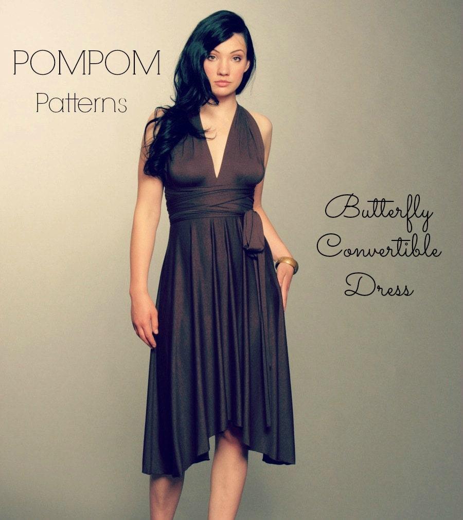 Pdf sewing pattern convertible dress butterfly hem size xs xl this is a digital file jeuxipadfo Choice Image