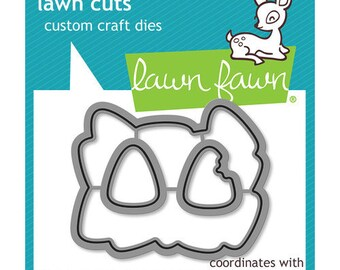 Lawn Fawn - Halloween - Lawn Cuts - Dies - How You Bean, Candy Corn Add-On Dies